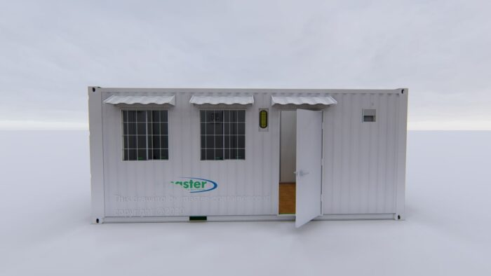 Office with Toilet Container 20ft