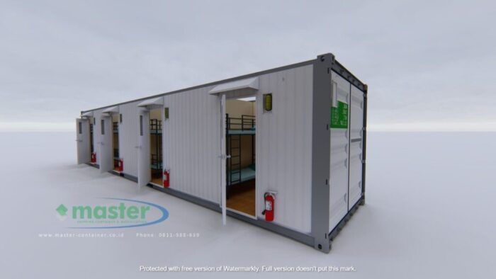 Sleeper Container 40ft 16 Man - Master Container Front